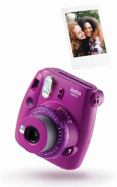 instax mini 9 clear purple