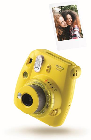 instax mini 9 clear yellow