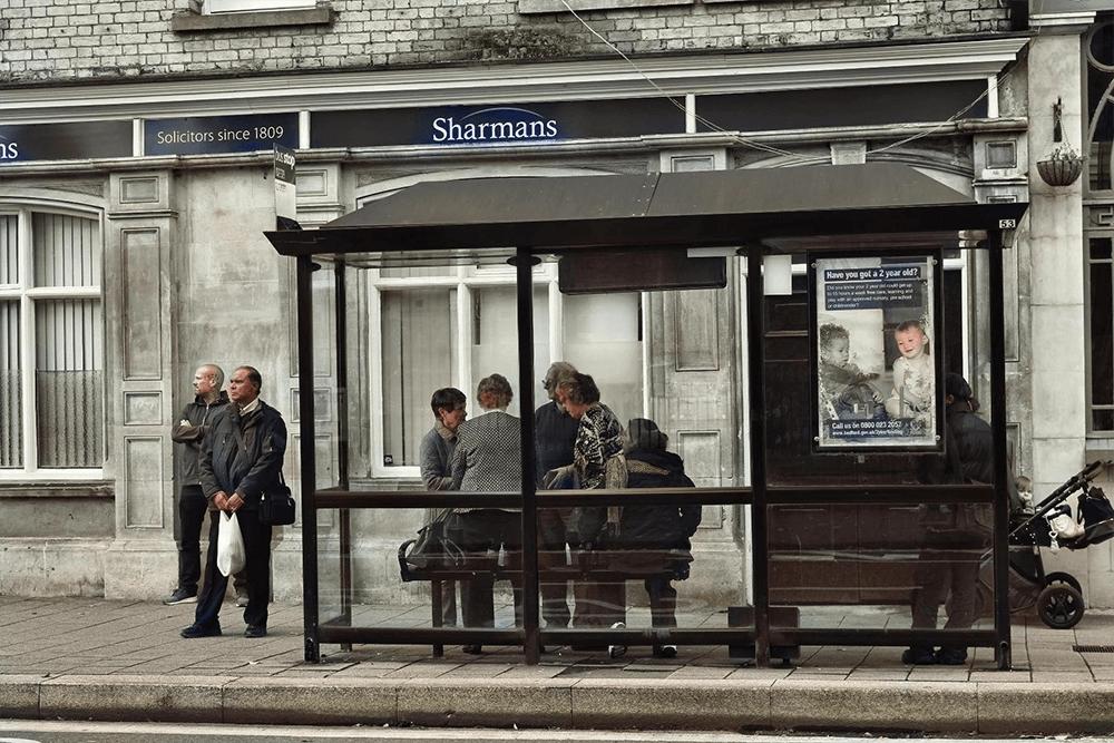 Natalie Hall - bus stop- generations