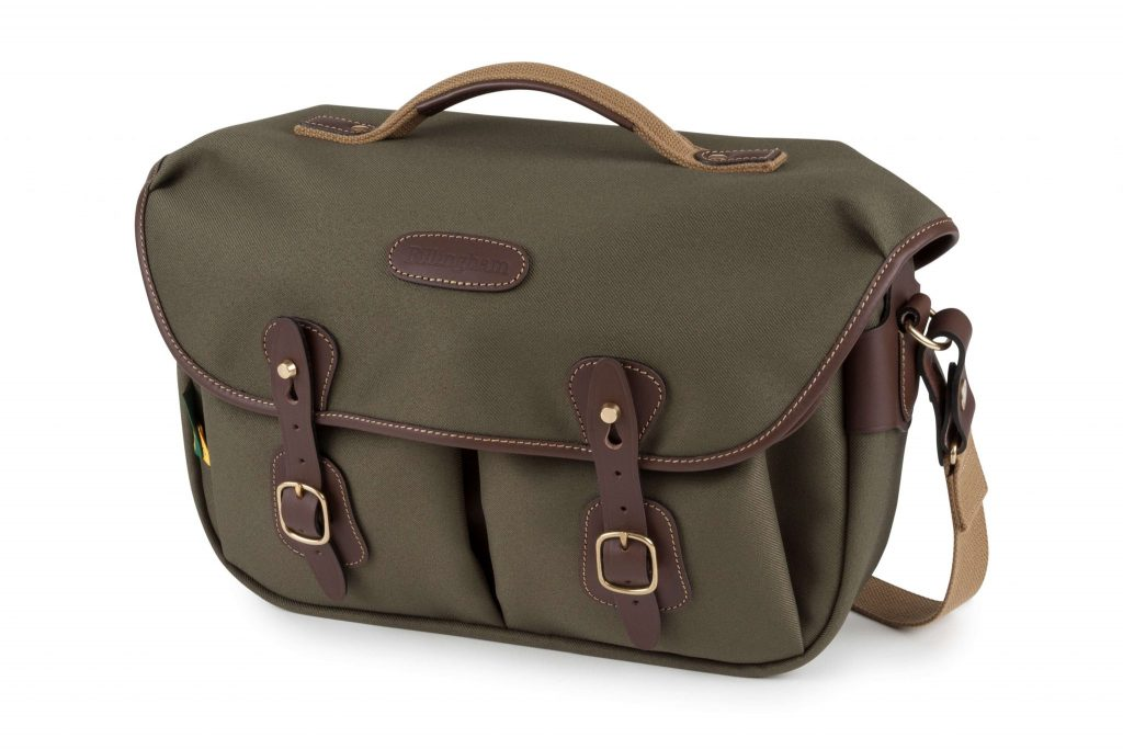 Billingham Hadley Pro 2020 FRONT - Sage FibreNyte_Chocolate Leather