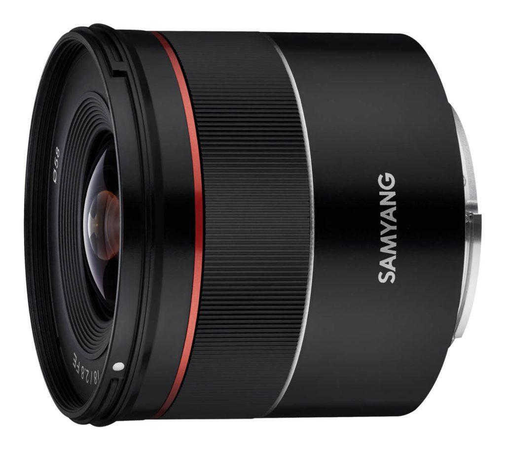 Samyang AF 18mm F2.8 FE Lens side angle