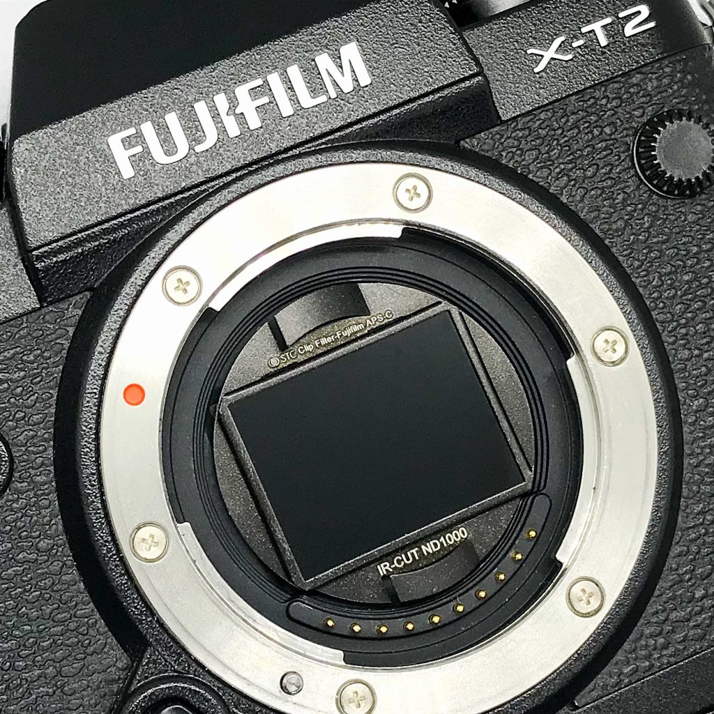 STC's Clip Filter for Fujifilm ND1000 in camera.