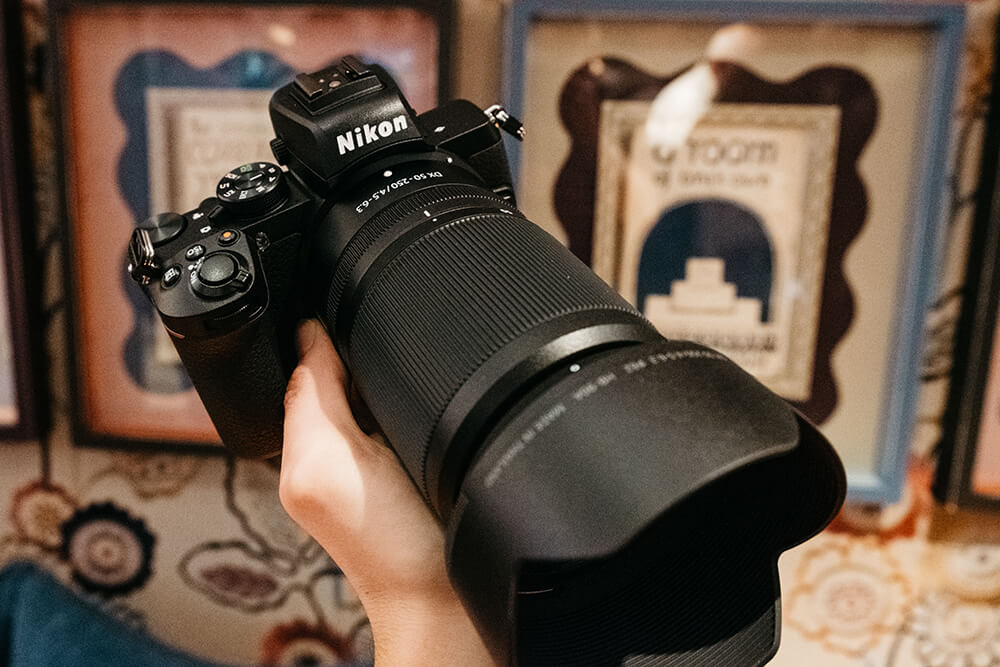 Nikon Z50 above