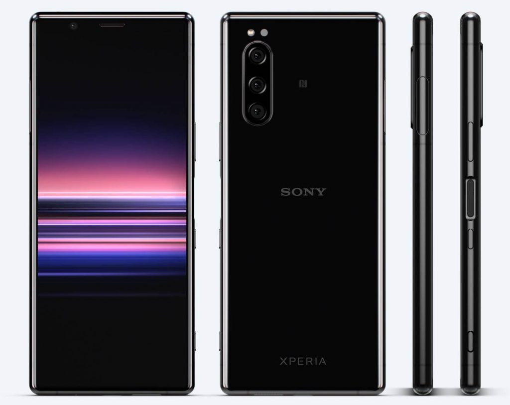 Xperia 5 front back