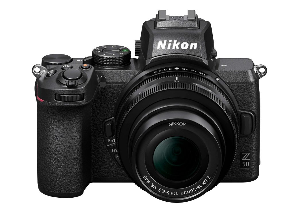Nikon Z50 front drop angle