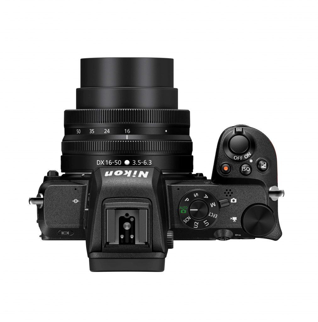 Nikon Z50 top view