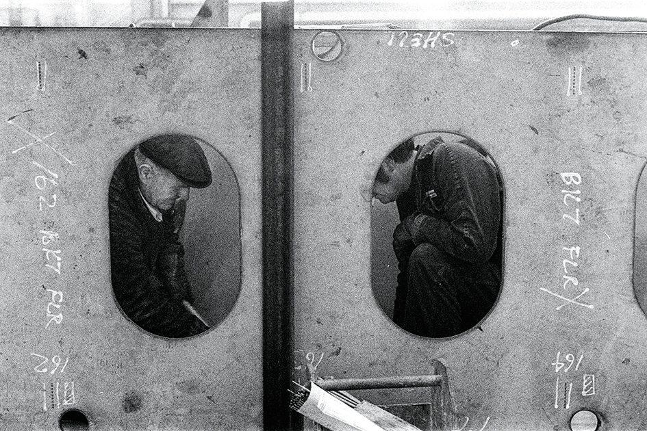 Fran May: Portholes.