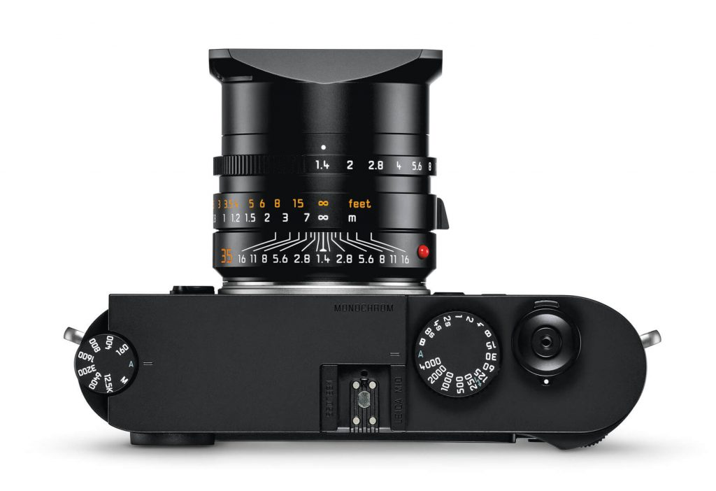 the new Leica M10 Monochrom top with lens
