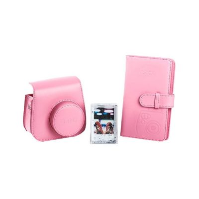 Fujifilm instax Mini 9 Accessory Kit in Flamingo Pink