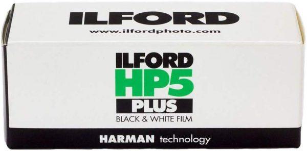 Ilford HP5 Plus Film 120 B&W ISO 400 pack shot 1
