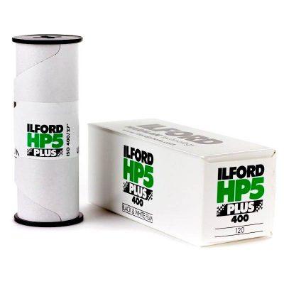 Ilford HP5 Plus Film 120 B&W ISO 400 pack shot 3