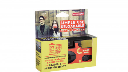 Read Lomography Simple Use Reloadable Camera Loaded with Lomochrome Metropolis Film Announced
