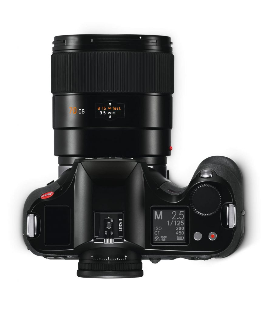 Leica S3 top with lens