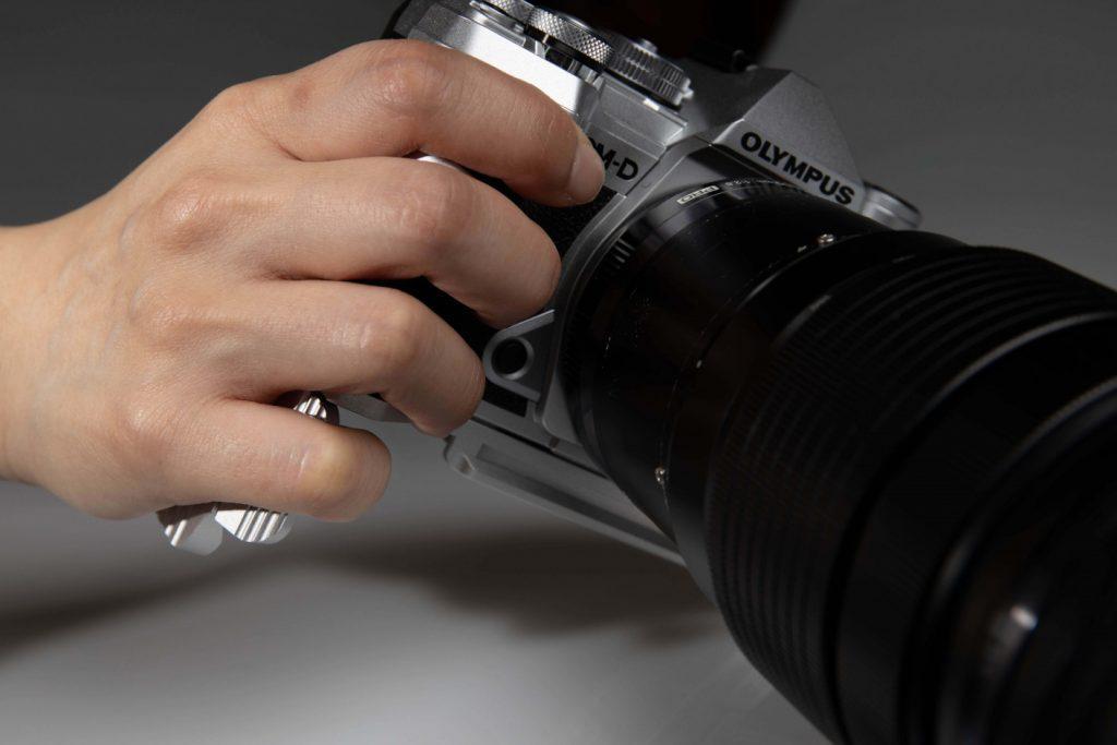 STC Fogrip Olympus OM-D E-M5 Mark III in hand 2