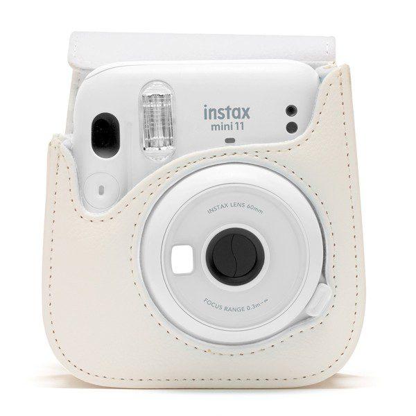 Fujifilm instax Mini 11 Case in Ice White with camera