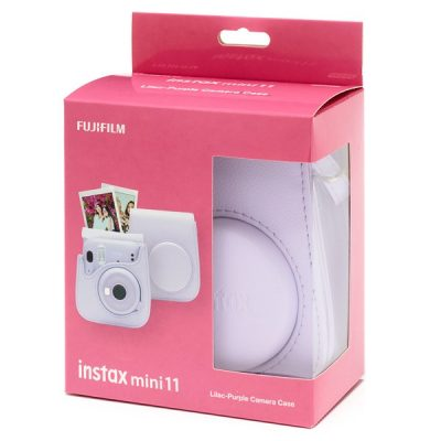 Fujifilm instax Mini 11 Case in Lilac Purple box