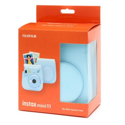 Fujifilm instax Mini 11 Case in Sky Blue box