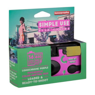 Simple Use Film Camera Lomochrome Purple box