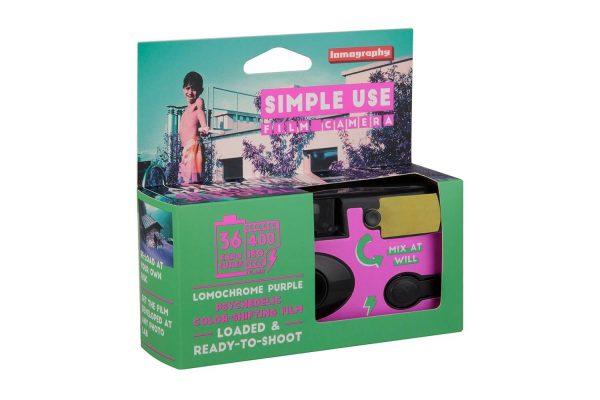 Simple Use Film Camera Lomochrome Purple box