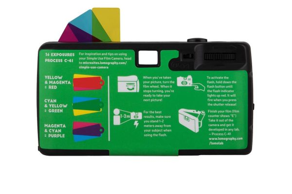 Simple Use Film Camera Lomochrome Purple camera back