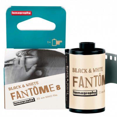 Lomography Fantôme Kino B&W ISO 8 Film box and roll