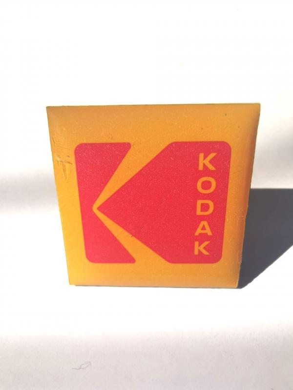 Kodak pin badge front