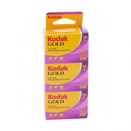 PhotoBite - Kodak GOLD 200 35mm Colour Film Triple Pack – 36 exp