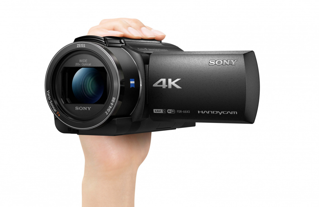 Sony AX43 in hand