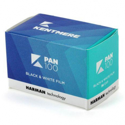 Kentmere Pan 100 B&W 35mm Film box