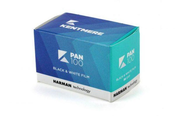 Kentmere Pan 100 B&W 35mm Film box