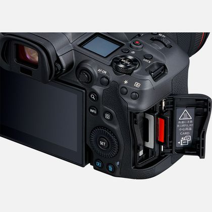 Canon EOS R5 Card slots