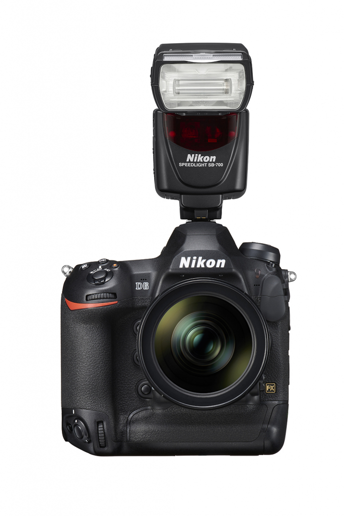 Nikon D6 with flash