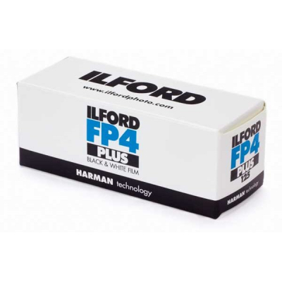 Ilford FP4 Plus 120 Medium Format Film box