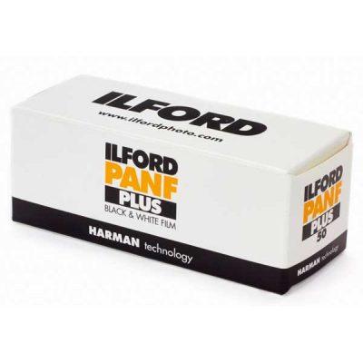 Ilford Pan F Plus 120 Medium Format Film box