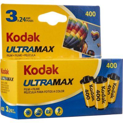 Kodak ULTRAMAX 400 35mm 24-exposure Triple Pack box