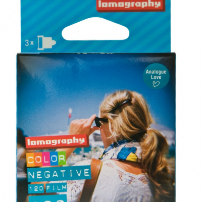 Lomography Color Negative 120 ISO 100 Triple Pack box front