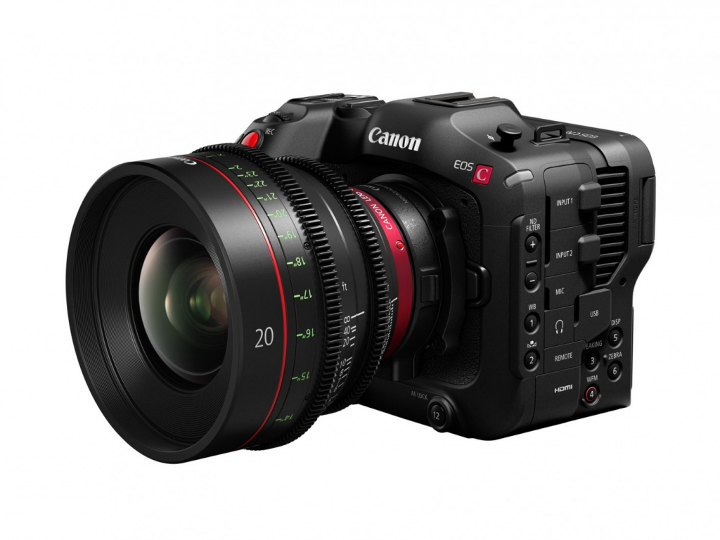 Canon EOS C70 with cinema lens