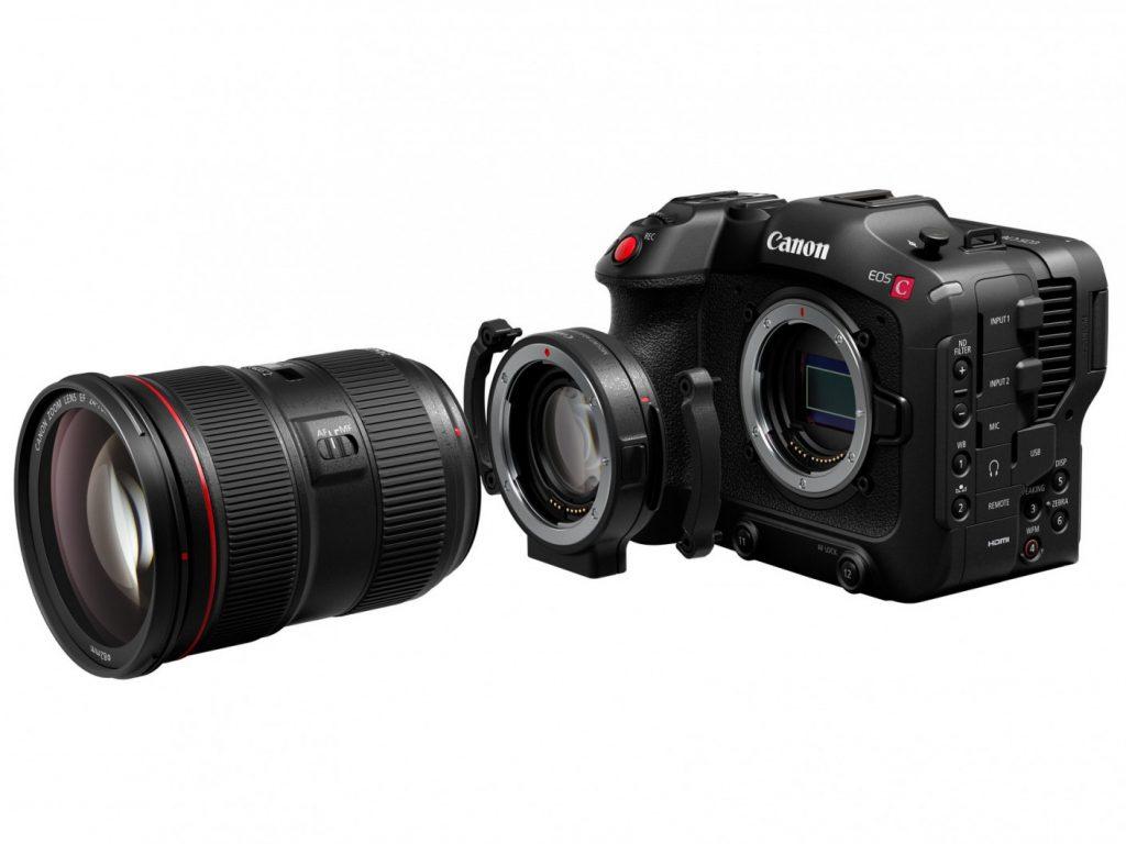Canon EOS C70 with mount