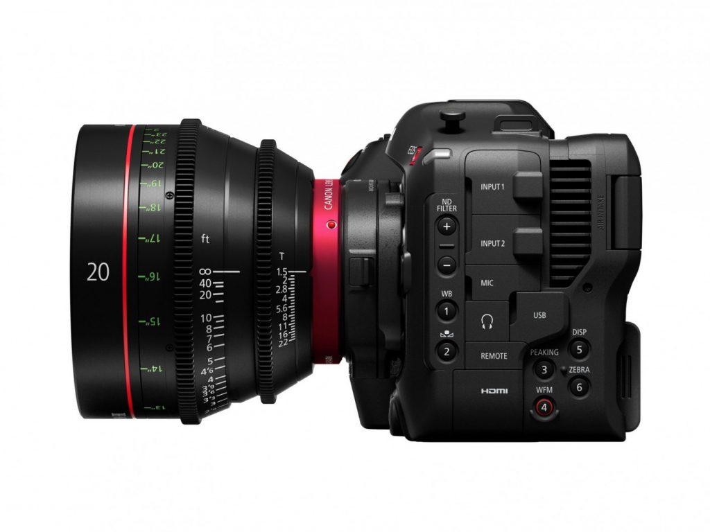 Canon EOS C70 side cinema lens 2
