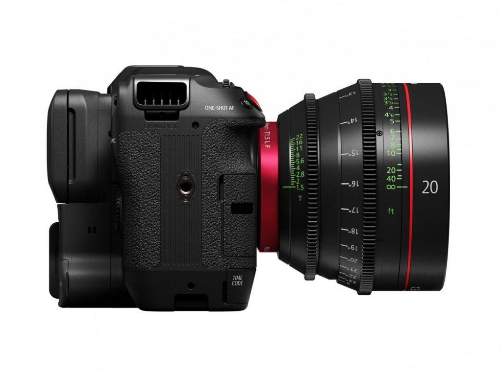 Canon EOS C70 side cinema lens