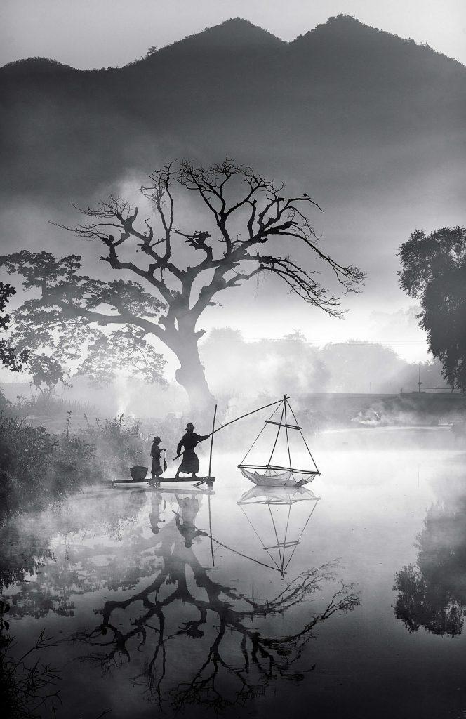 'Foggy Morning Fishing' by Min Min Zaw.