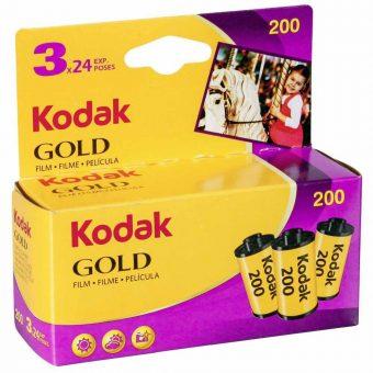 PhotoBite - Kodak GOLD 200 35mm Colour Film Triple Pack – 24 exp