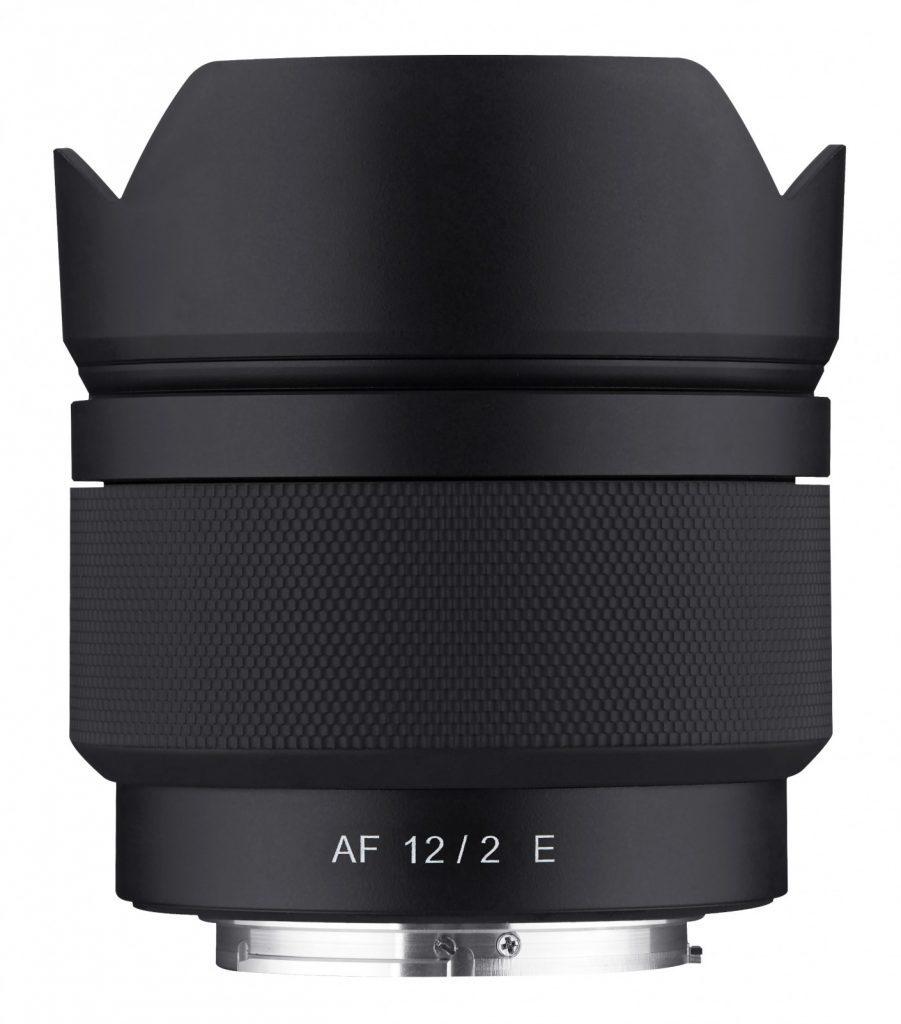Samyang-AF-12mm-F2-E-top-with-hood