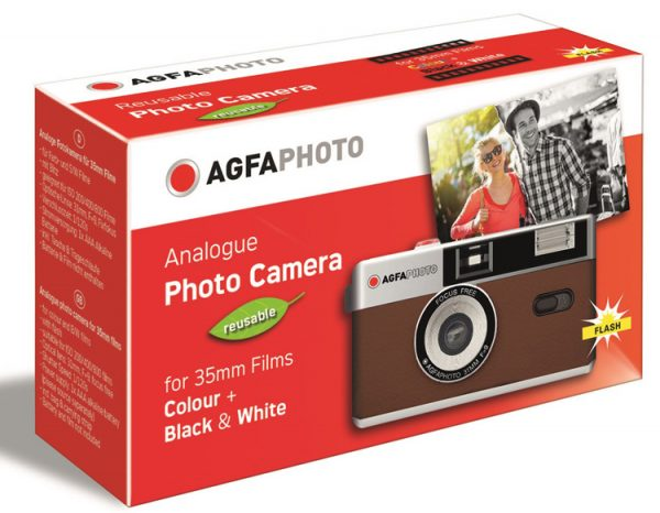 AGFA-Photo-Analogue-35mm-reusable-film-point-and-shoot-camera-brown-packaging