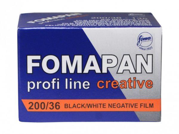 Fomapan 200 Creative 35mm Film box