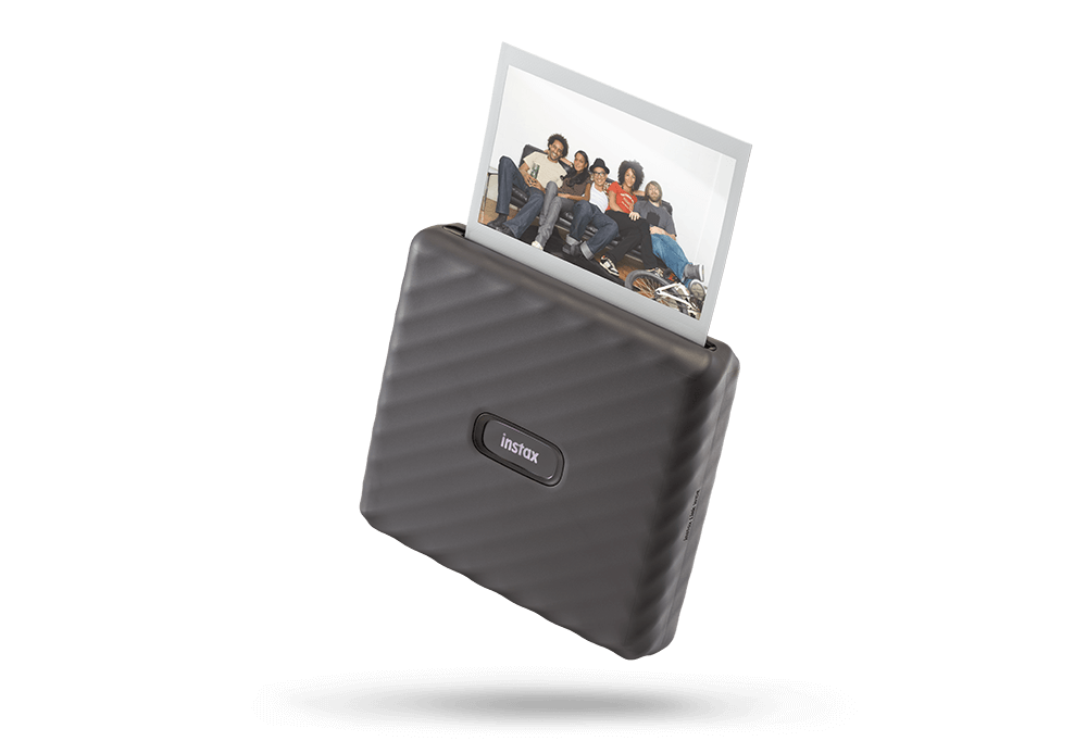 instax LINK WIDE Mocha Gray with print